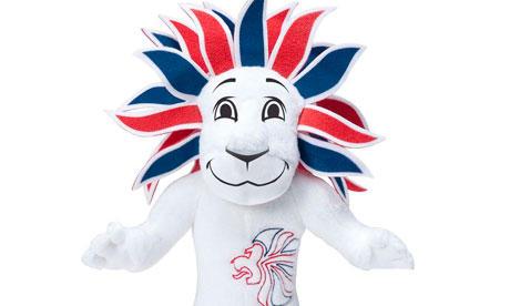 """> 2012奥运会英国队吉祥物—狮子""""骄傲"""""""