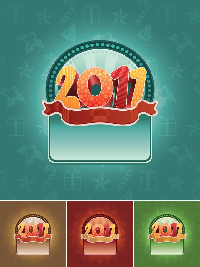 它们很可爱,活泼生动的2011字体design
