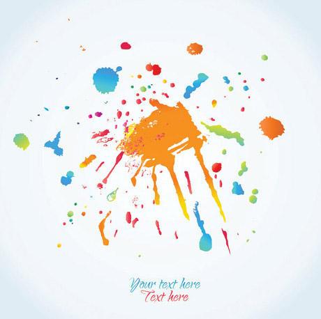 墨迹矢量素材         在传统的单色墨中,墨分五彩,指色彩缤纷可以用