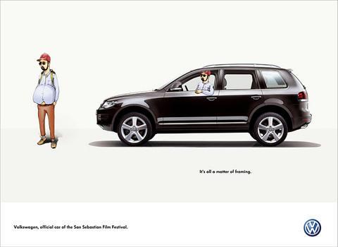 全方位汽车创意 33张大众汽车平面广告高清图片