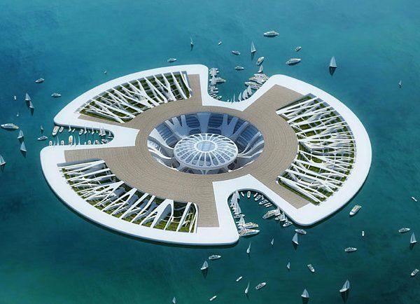 根据预警预测少杰科(政府间关于气候变化组),海平面将上升20至90厘米在第二十一世纪与现状的50厘米(10厘米在第二十世纪)。为解决这一令人震惊的问题建筑师文森卡勒想出了这个ecotectural奇迹。他称该项目荷叶,但是这ecotectural奇迹也称为气候难民流动的生态城市。的想法,荷叶项目是创建一系列浮动远洋生态岛。每一个能容纳50000居民将支持生物多样性很大。收集池中心设在他们将收集和过滤水上使用。这些将是冒险家和难民的地方一样的水位上升和世界各地的许多威胁,尤其是岛屿,栖息地。文森卡勒希