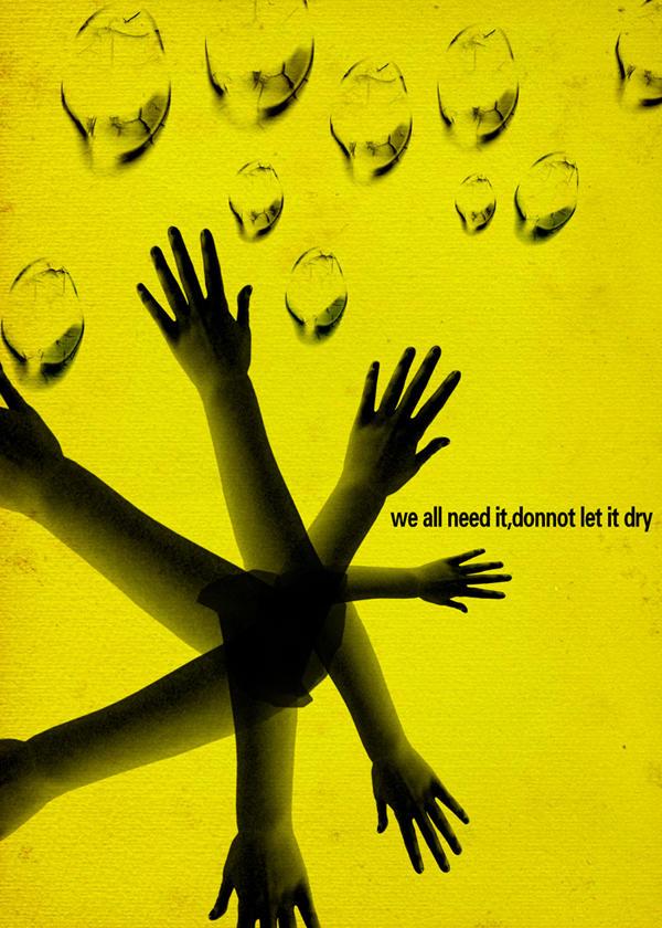草根设计师环保公益海报设计