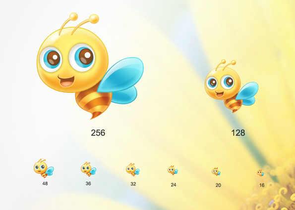 可爱蜜蜂动态图标