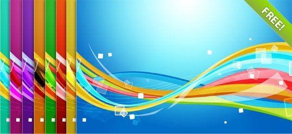 八种七彩背景素材下载_干将莫邪设计公司,创意盈利之!