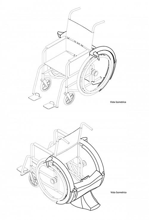 轮椅卡通简笔画
