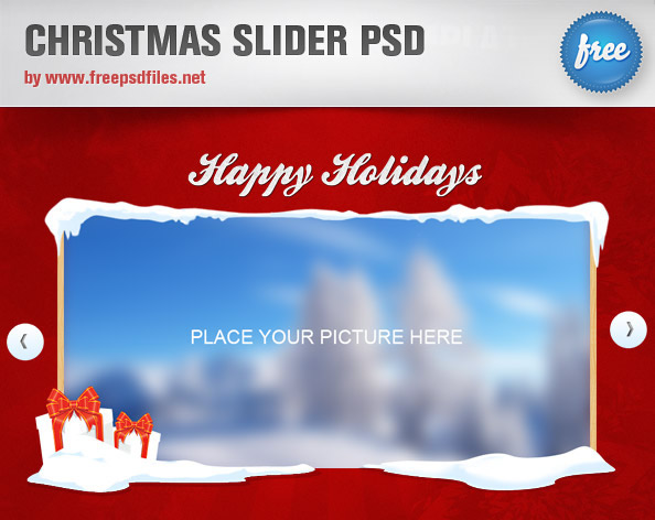 圣诞滑块,PSD模板,图像滑块,psd滑块,滑块轮播,滑块设计,冬季滑块