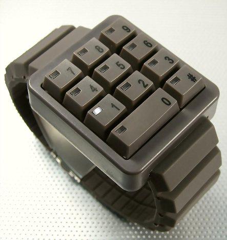 极客,数字,键盘,手表,CLICK,品牌,设计师,概念