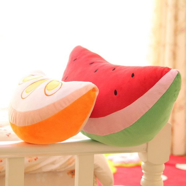 创意,仿真,西瓜,橙子,水果,靠垫,礼物